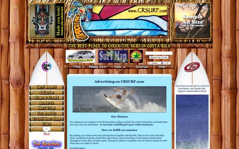 Screenshot of Signup Page crsurf.com - Costa Rica Surf Travel - Ad Rates - captured March 11, 2016