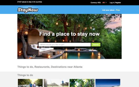 Screenshot of Home Page staynow.co.ke - South Africa Accommodation | Largest Accommodation Booking Site in Africa, 21427 establishments! - captured Sept. 25, 2014