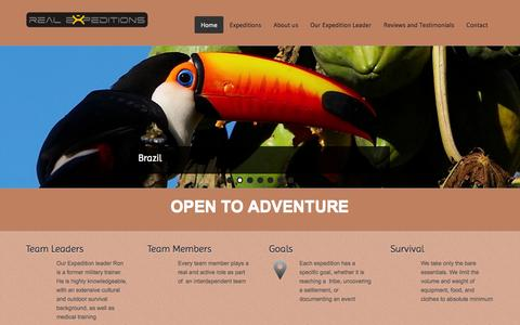 Screenshot of Home Page real-expeditions.com - Real Expeditions - captured Oct. 7, 2014