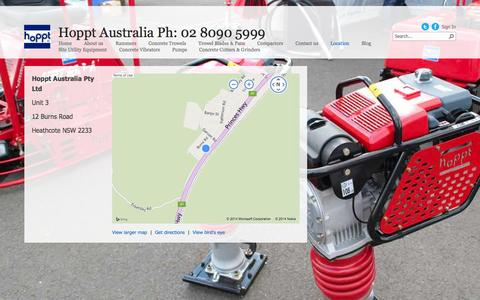 Screenshot of Maps & Directions Page hoppt.com.au - Directions - captured Oct. 27, 2014