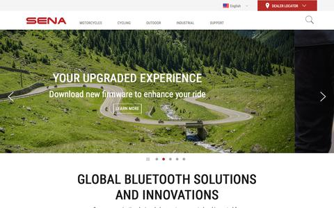 Screenshot of Home Page sena.com - The Best Motorcycle & Action Sport Bluetooth Devices | Sena - captured Nov. 7, 2018