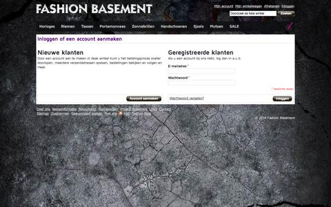 Screenshot of Login Page fashionbasement.nl - Klant-login | Fashion Basement - captured Sept. 30, 2014