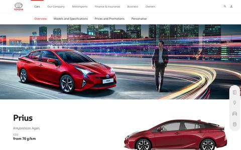 Prius Hybrid - Overview & Features - Toyota Europe