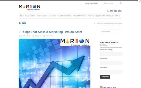 3 Things That Make a Marketing Firm an Asset