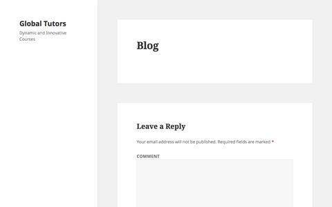 Blog – Global Tutors