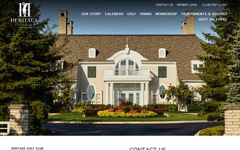 Screenshot of Contact Page clubcorp.com - Contact Us | Heritage Golf Club - captured Sept. 28, 2018