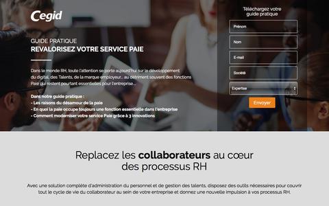Screenshot of Landing Page cegid.com - Téléchargez votre guide pratique - captured Sept. 20, 2018