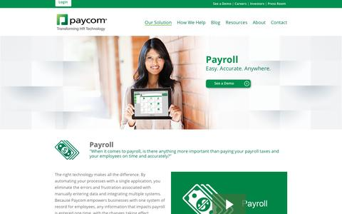 Paycom | Our Solution: Payroll