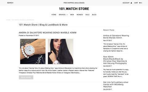Screenshot of Press Page 101.watch - 101.Watch Blog & LookBook                             101.Watch Store - captured July 9, 2018
