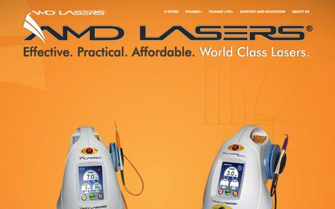 Screenshot of Home Page amdlasers.com - AMD LASERS | The Affordable Dental Lasers - captured Oct. 2, 2018