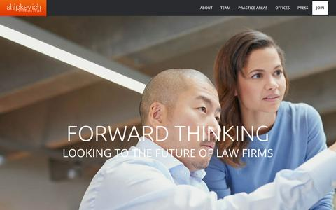 Screenshot of Signup Page shipkevich.com - Join The Firm   Shipkevich PLLC Attorneys at Law   - captured Oct. 2, 2018