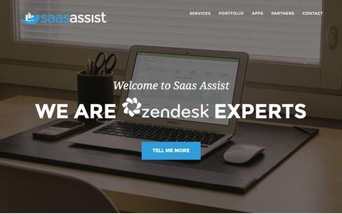 Screenshot of Home Page saasassist.com - Saas Assist - captured Jan. 21, 2015