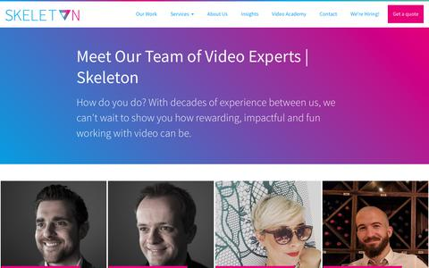 Screenshot of About Page Jobs Page skeletonproductions.com - Meet Our Team of Video Experts | Skeleton - captured June 12, 2019