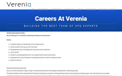 Careers at Verenia