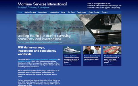 Screenshot of Home Page maritime.uk.com - Marine Surveys | Marine Consultants | Marine Inspection & Investigations - captured Oct. 4, 2014