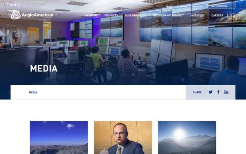 Screenshot of Press Page angloamerican.com - Media – Anglo American - captured July 13, 2019