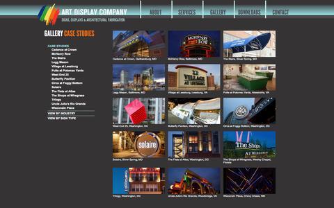 Screenshot of Case Studies Page artdisplayco.com - Art Display Company Case Studies Archives - Art Display Company - captured Sept. 30, 2014