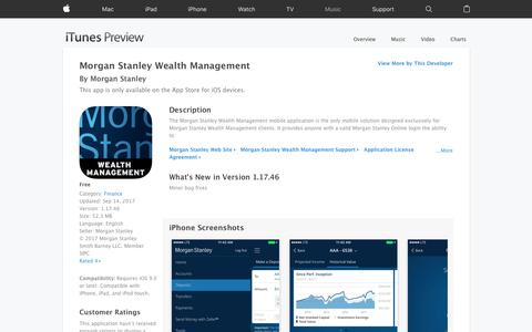 Morgan Stanley Wealth Management on the App Store
