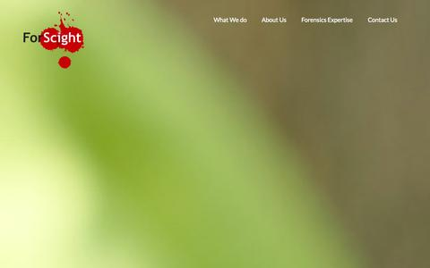Screenshot of Home Page forscightforensics.co.za - ForScight Forensic Services - captured Sept. 30, 2014