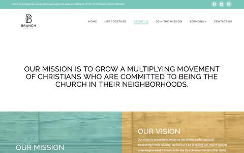 Screenshot of About Page branchchurch.org - Our Culture - Branch Church - captured Oct. 11, 2017