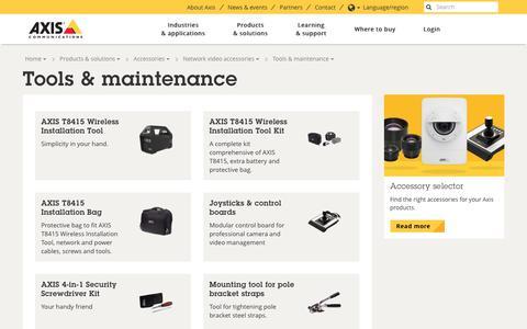 Screenshot of axis.com - Tools & maintenance | Axis Communications - captured Nov. 7, 2017