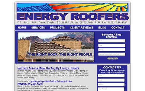 Screenshot of Blog energyroofers.com - Energy Roofers - captured Nov. 5, 2018