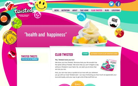 Screenshot of Signup Page twistedyoghurt.com.au - Twisted Frozen Yoghurt ~ Our Products ~ Frozen Yoghurt - captured Oct. 6, 2014