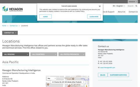 Screenshot of Locations Page hexagonmi.com - Locations | Hexagon Manufacturing Intelligence - captured Nov. 25, 2017