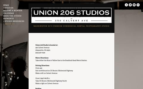 Screenshot of Maps & Directions Page union206.com - Location and Directions — Union 206 Studios - captured Oct. 27, 2014