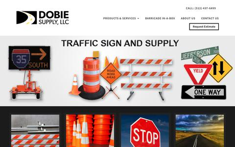 Screenshot of Home Page dobiesupply.com - Traffic Supply Store in Buda, TX - Dobie Supply - captured Oct. 9, 2018