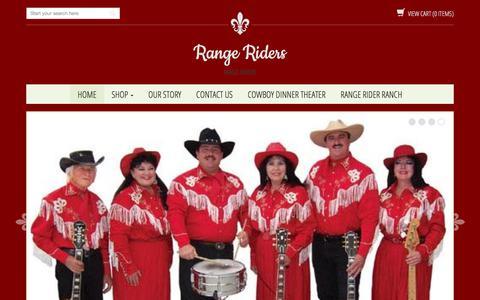 Screenshot of Home Page rangeriders.com - Range Riders - captured March 8, 2018