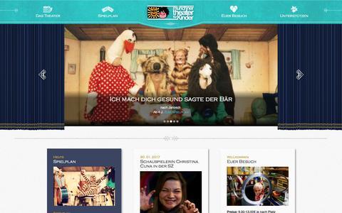 Screenshot of Home Page mtfk.de - Münchner Theater für Kinder - captured April 3, 2017