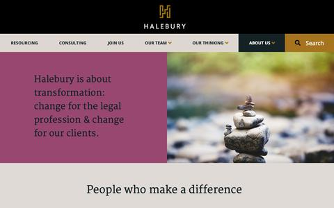 Screenshot of About Page halebury.com - About our Alternative Law Firm   Halebury - captured Nov. 4, 2018