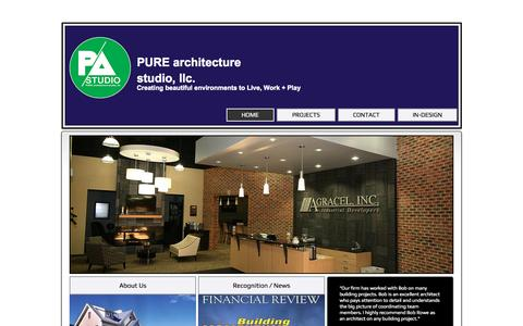 Screenshot of Home Page pure-arch.com - Pure Architecture Studio LLC - captured Sept. 17, 2015