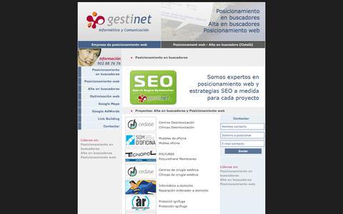 Screenshot of Home Page posicionamientowebyaltaenbuscadores.com - Posicionamiento web en buscadores alta en buscadores empresa barcelona - captured Feb. 23, 2018
