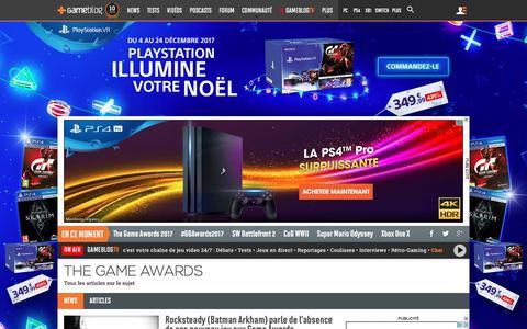 Screenshot of gameblog.fr - The Game Awards - Tests, news, dossiers - Gameblog.fr - captured Dec. 9, 2017