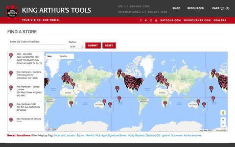 Screenshot of Maps & Directions Page katools.com - King Arthur's Tools - KA Tools - captured Oct. 17, 2017