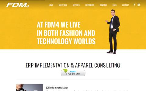 Screenshot of Services Page fdm4.com - ERP Consulting Services for Apparel and Fashion Companies - captured Jan. 23, 2016