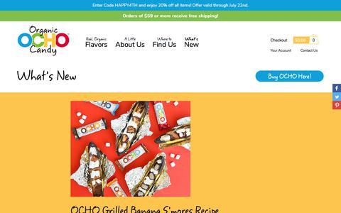 Screenshot of Blog ochocandy.com - Organic Chocolate News and Info from the folks behind OCHO Chocolate Candy - captured July 14, 2018