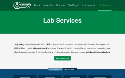 Screenshot of Services Page Pricing Page agriking.com - Lab Services | Agri-King - captured Oct. 7, 2017