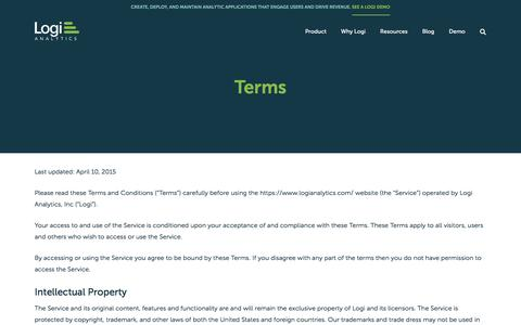 Screenshot of Terms Page logianalytics.com - (1) New Message! - captured Dec. 2, 2019