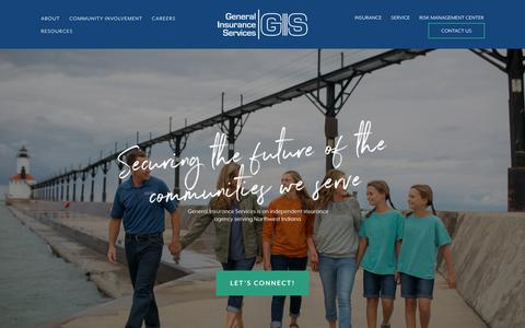 Screenshot of Home Page genins.com - General Insurance Services - captured Sept. 27, 2018