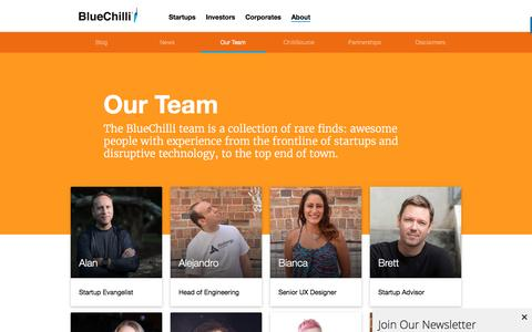 Screenshot of Team Page bluechilli.com - Our Team at BlueChilli - captured Nov. 17, 2016