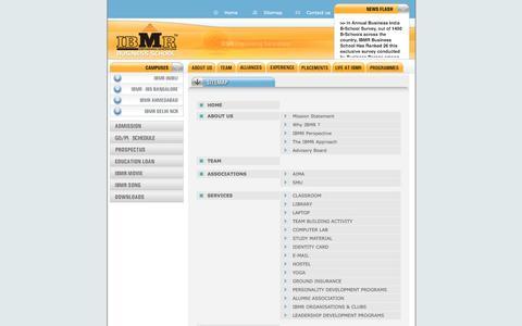 Screenshot of Site Map Page ibmrbschool.org - IBMR-Home,IBMR,BSCHOOLS,B-SCHOOLS,BBA,MBA, - captured Feb. 3, 2016