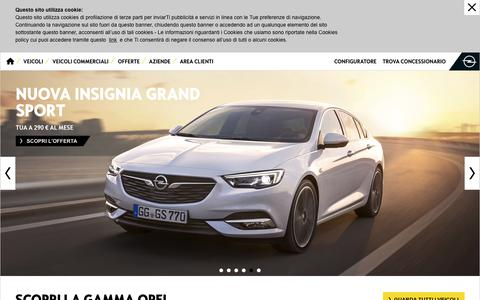 Screenshot of Home Page opel.it - Opel Italia - Auto nuove Opel, Furgoni e Veicoli Commerciali, Offerte Opel - captured June 25, 2017