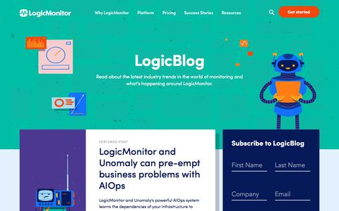 Screenshot of Blog logicmonitor.com - (1) New Message! - captured Feb. 10, 2020