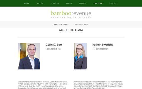 Screenshot of Team Page bamboorevenue.co.uk - Meet the Team — Bamboo Revenue - captured Sept. 30, 2014