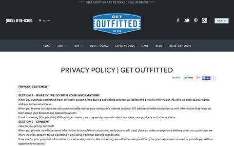 Screenshot of Privacy Page getoutfitted.com - Privacy Policy | Get Outfitted - captured Sept. 16, 2014