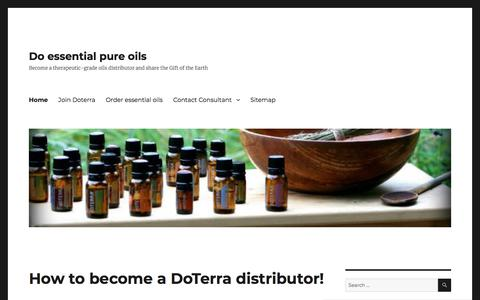Become a Doterra consultant