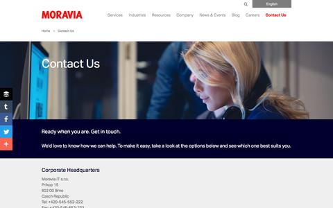 Contact Us - Moravia
